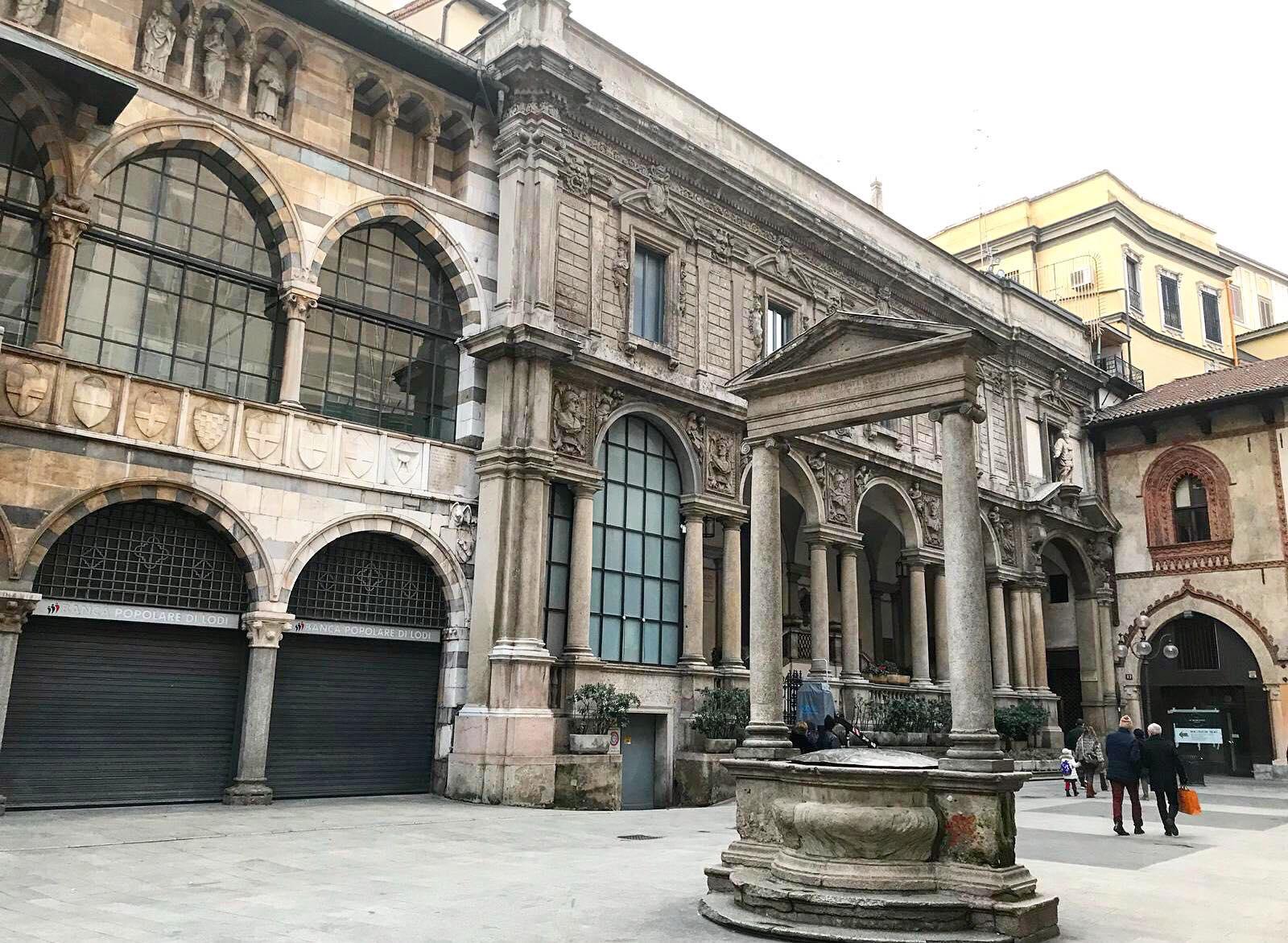 piazza mercanti mediolan