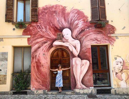 dozza włochy mural